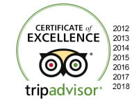 trip advisor awards 2012 to 2018